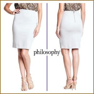 Philosophy  stretch pencil skirt white size 10